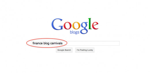 "Type in the keywords followed by ""blog carnival""."