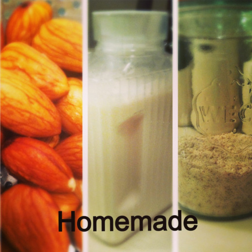 I don't think I'll be buying these from the store anymore. It's too easy to make homemade almond milk and flour.