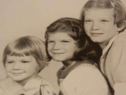 Patti age three  Mary Jane age 8 Teresa age 10
