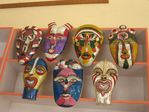 Masks at display