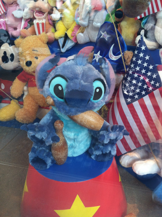 While walking around California Adventure I spotted this cute display in the window of one of the shops!