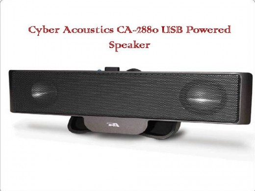 Cyber Acoustics CA-2880 USB Powered Speaker clips to your laptop's screen for a significantly improved audio experience.