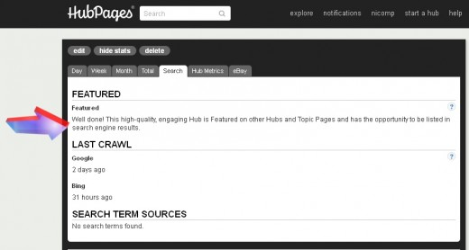 HubPages provides encouragement and may allow you to be crawled. It doesn't hurt.