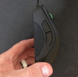 The DeathAdder's improved side grips help a lot during long gaming sessions.