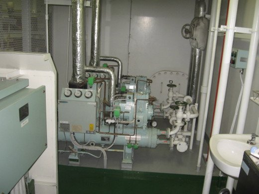 Air Conditioning Compressor Unit installed in Machinery Space