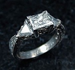 With the relatively recent spike in gold prices, platinum has taken off as an engagement ring choice in high demand.