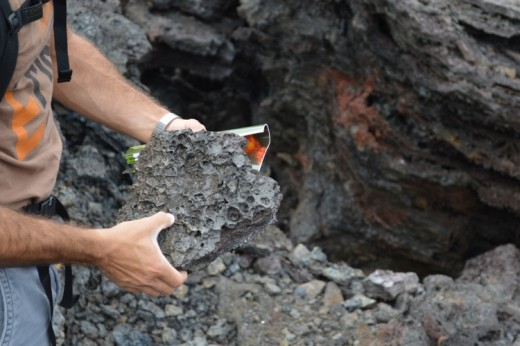 Don't disassemble the stacked rocks and, if you do pick up a lava rock, return it to its proper place.