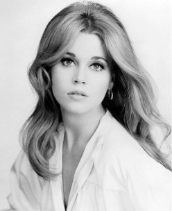 Jane Fonda, a tousle haired blonde by 1963