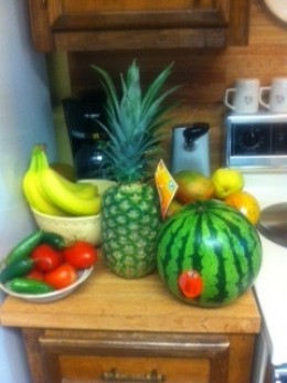 Lots of fresh fruit