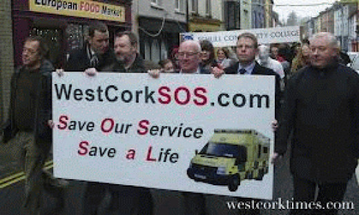 Protest to save ambulance service in Cork