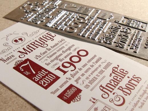 Letterpress wedding invitations!
