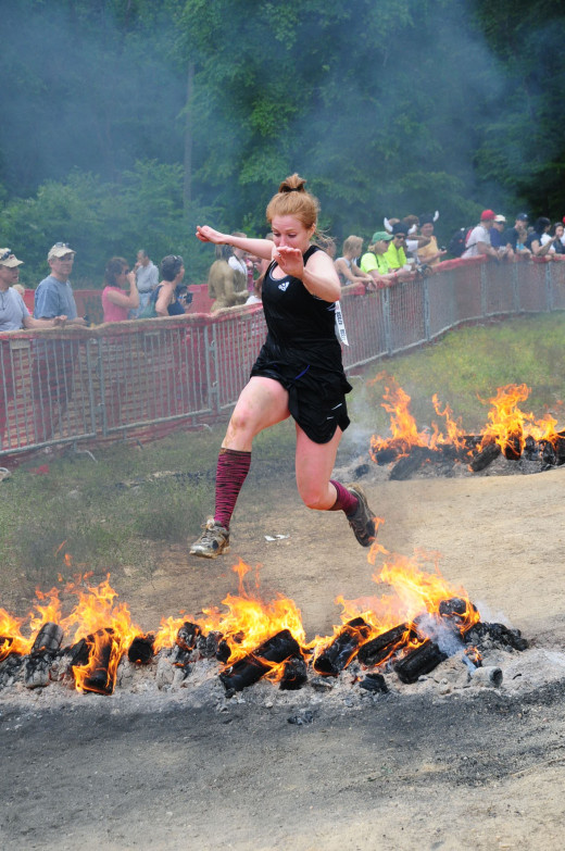 Just jumping over some fire....