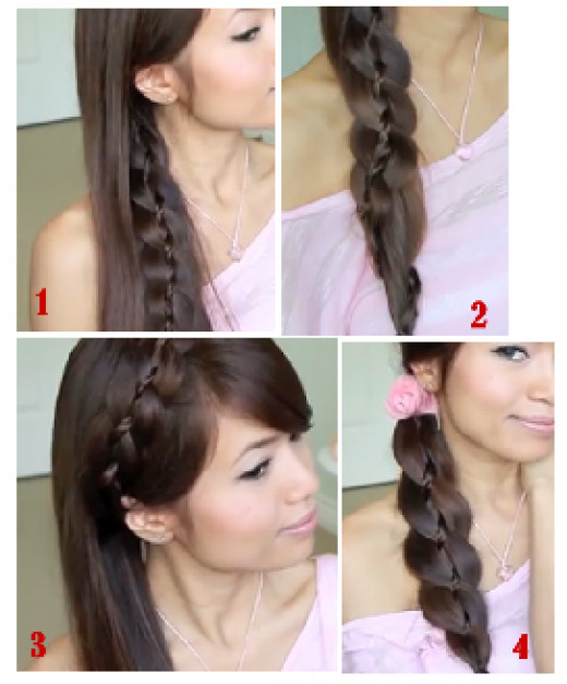 The 4 different styles that you can achieve with this braid