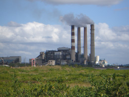 A coal fired power plant.