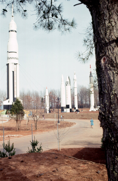 The Rocket Park at the US Space and Science Center