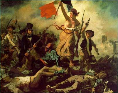 Liberty leading the people, by Delacroix (1830)