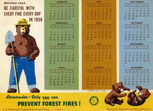 Calendar 1958