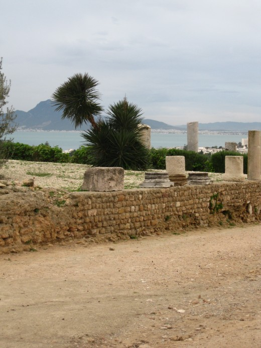 Roman Ruins on Byrsa Hill overlooking Carthage Horbor