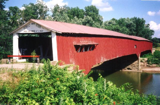 The West Union Covered Bridge is the longest covered bridge in Parke County