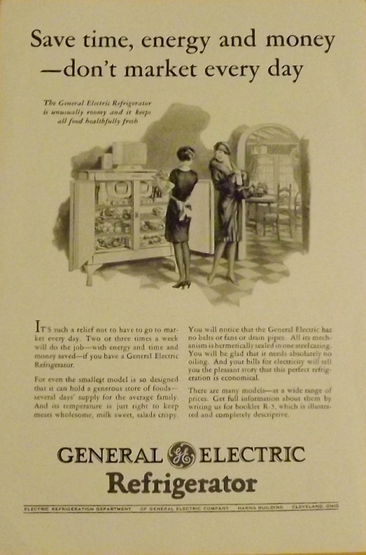 1928 General Electric Refrigerator Ad