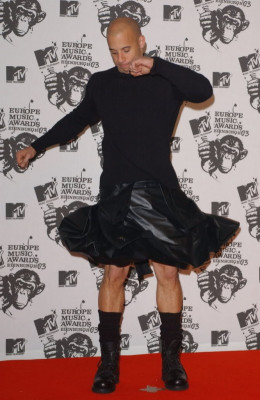 Vin Diesel, Kanye West, and several other male celebrities wore skirts in a fast and furious media blitz. Graying the boundaries between gender identifiers.