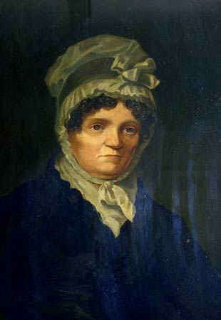 Jean Armour, wife of Robert Burns. This portrait was painted in 1822 when Jean was around 55 years of age. Jean died in 1834.