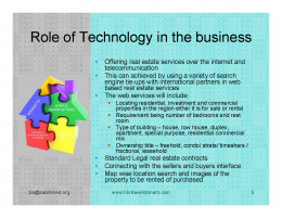 Real Estate Brokerage EShop Idea The Business Idea The Role of Technology