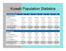 Kuwait Real estate market Population growth