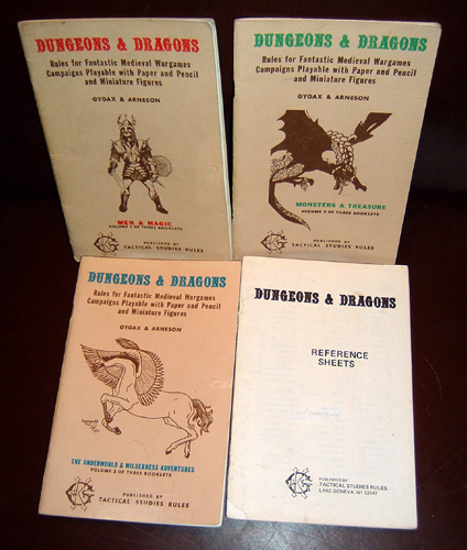 the four books from the original Dungeons and Dragons