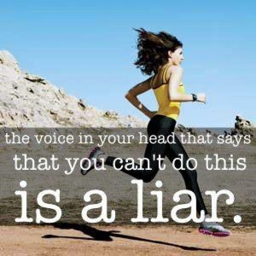 It doesn't have to be running, but do something other than hurting yourself. When you start hearing yourself say you can't, know that isn't true. You can overcome and you will.
