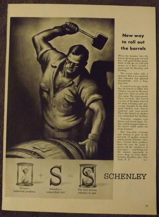 1953 Schenley Whiskey Ad