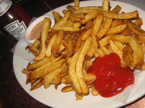 picture of plain french fries:Eating carbohyrates alone like shown in this picture will not give you results