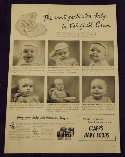 1945 Clapp's Baby Food Ad