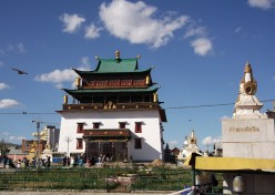 Gandantegchinlen Monastery. Mongolian Buddhism is the same a that of Tibet, so are the monasteries. This major city attraction is only 15 minutes walk from Peace Avenue.