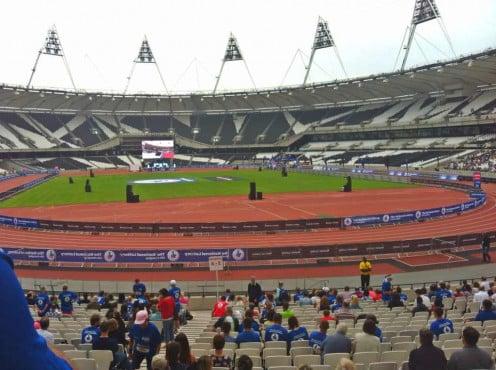 The London Olympic Stadium, before the run