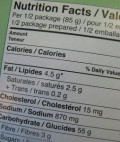 Read food labels for ingredients and nutrition.