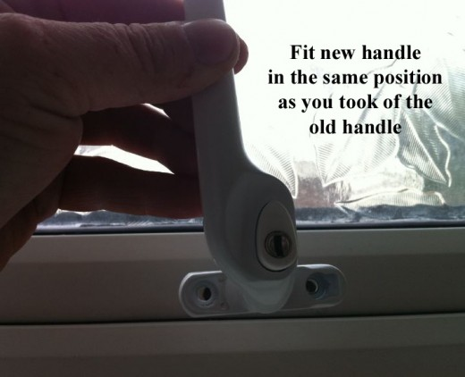 espage pvc window handle