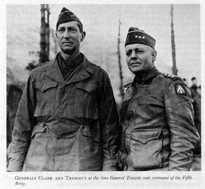 Clark and Truscott worked closely during the Italian Campaign.