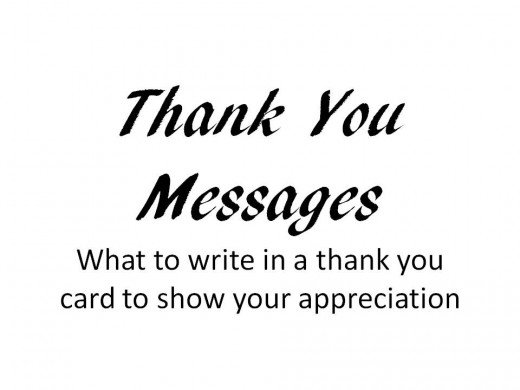 what to write in thank you card