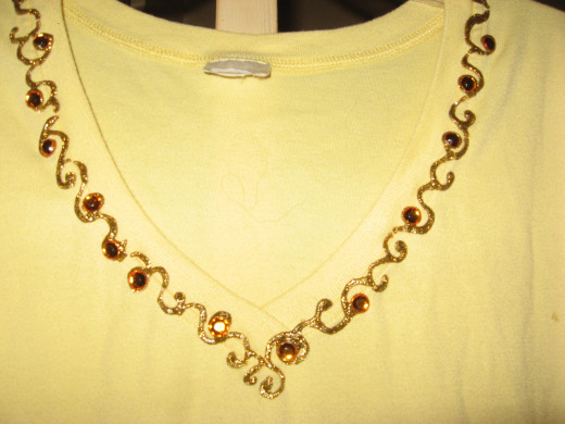 It's super easy to add some bling to clothing items!