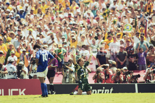 The famous missed penalty by Roberto Baggio that made Brazil World Champions for the fourth time.