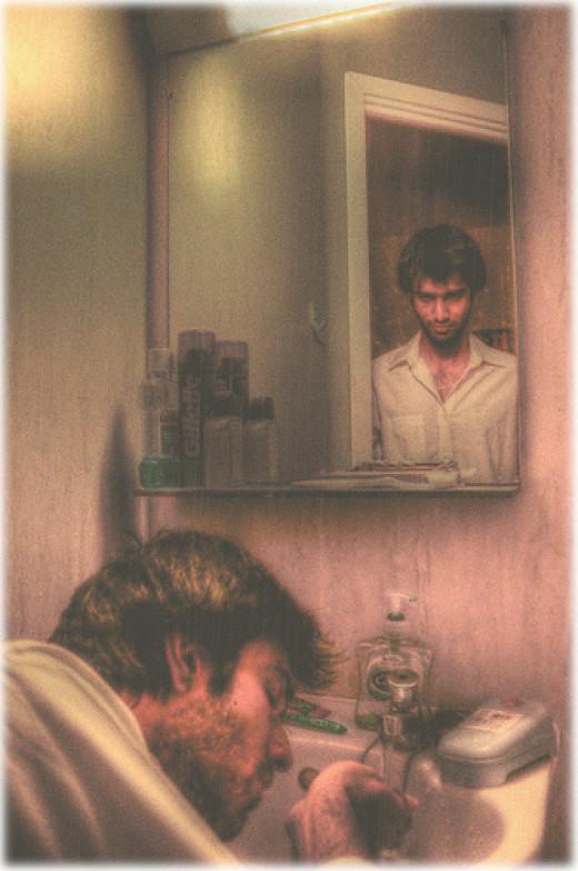 The Man in the Mirror from Bargav Rani  flickr.com
