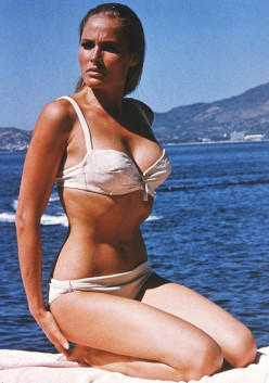 "Ursula Andress, as she appeared in ""Dr. No"", the first Bond film"
