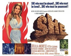 "Promotional poster for ""She"", 1965"