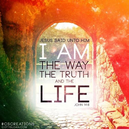 John 14:6 - Jesus the only way :)