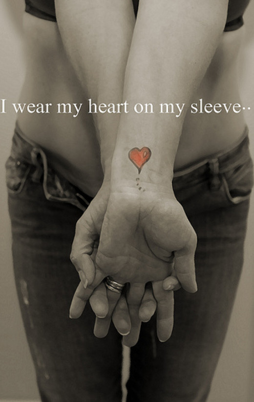 I wear my heart on my sleeve from angela price-delaney  flickr.com