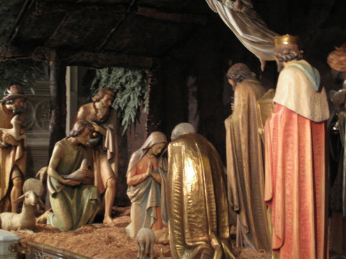 Many Christians have nativity scenes at Christmas and do not pray to the statues themselves.