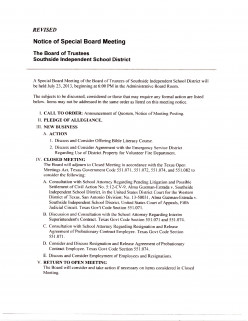 South East Bexar County Awareness: County Commissioner's Agenda Comes to Light on Southside Isd School Board