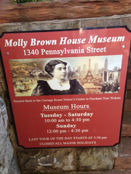 Margaret Brown House signage