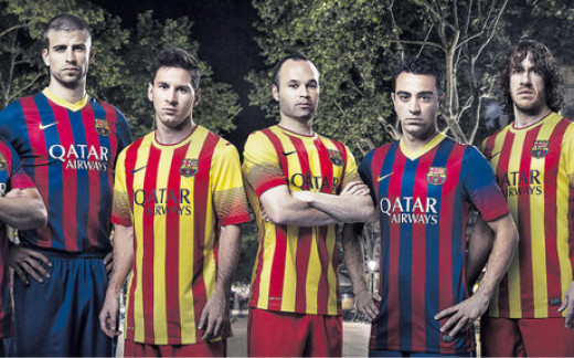 FC Barcelona's new 2013/14 kits